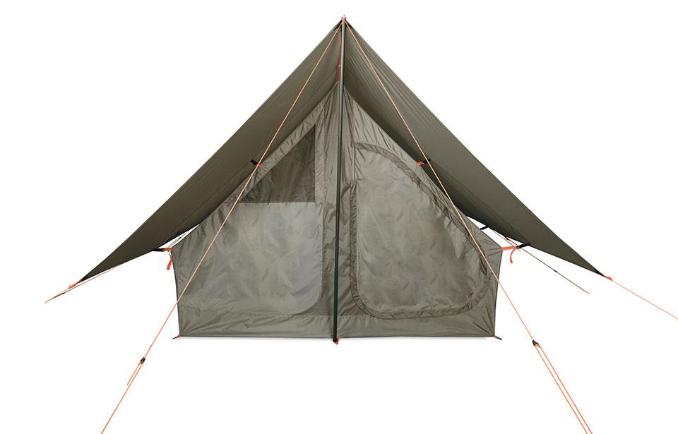 ファミリーでのミニマムキャンプに新スタイル<ニーモ DARK TIMBER 4P TENT>3