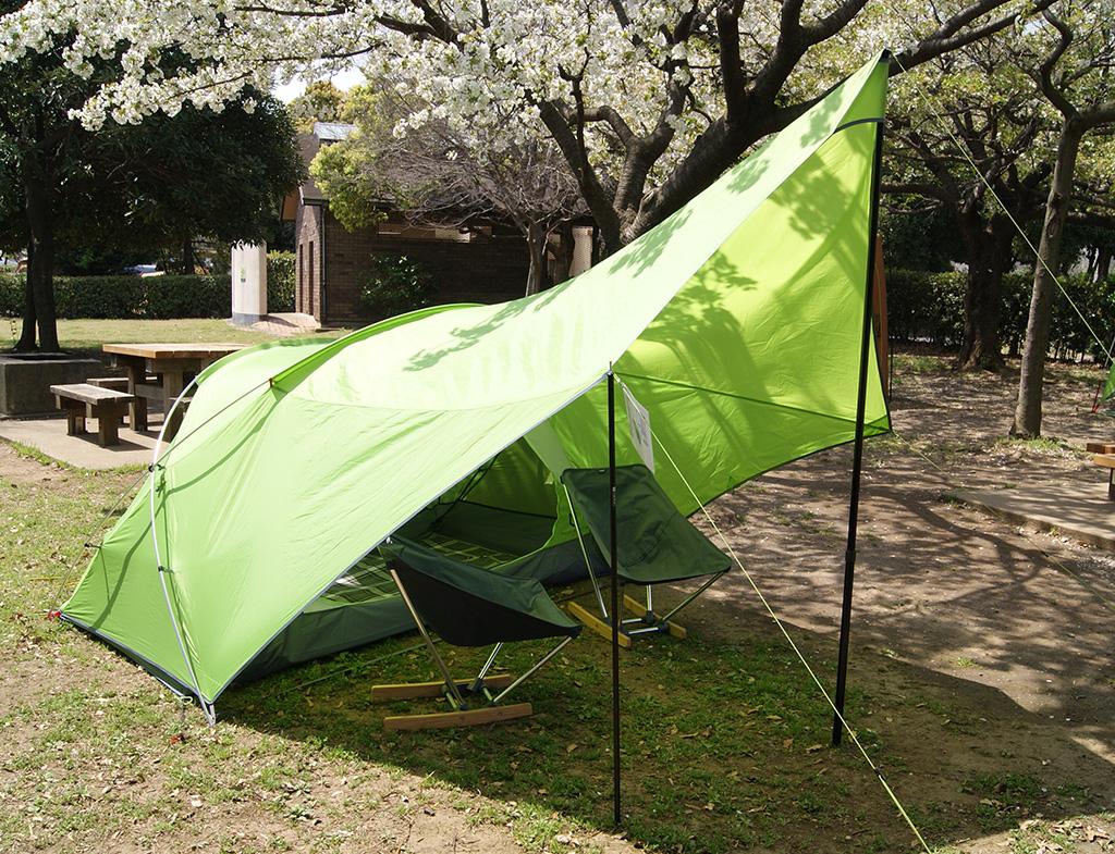 デイキャンプに使いたい<ニーモ(NEMO )フロントポーチ2Pテント<FRONT PORCH 2P TENT>1
