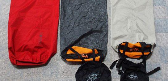 濡れたテントの収納は<ゴミ袋もいいけど防水の圧縮できるスタッフザックもいい>