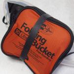 ミニマムなキャンプに便利な携帯バケツと携帯浄水器<フォルディングバケット>