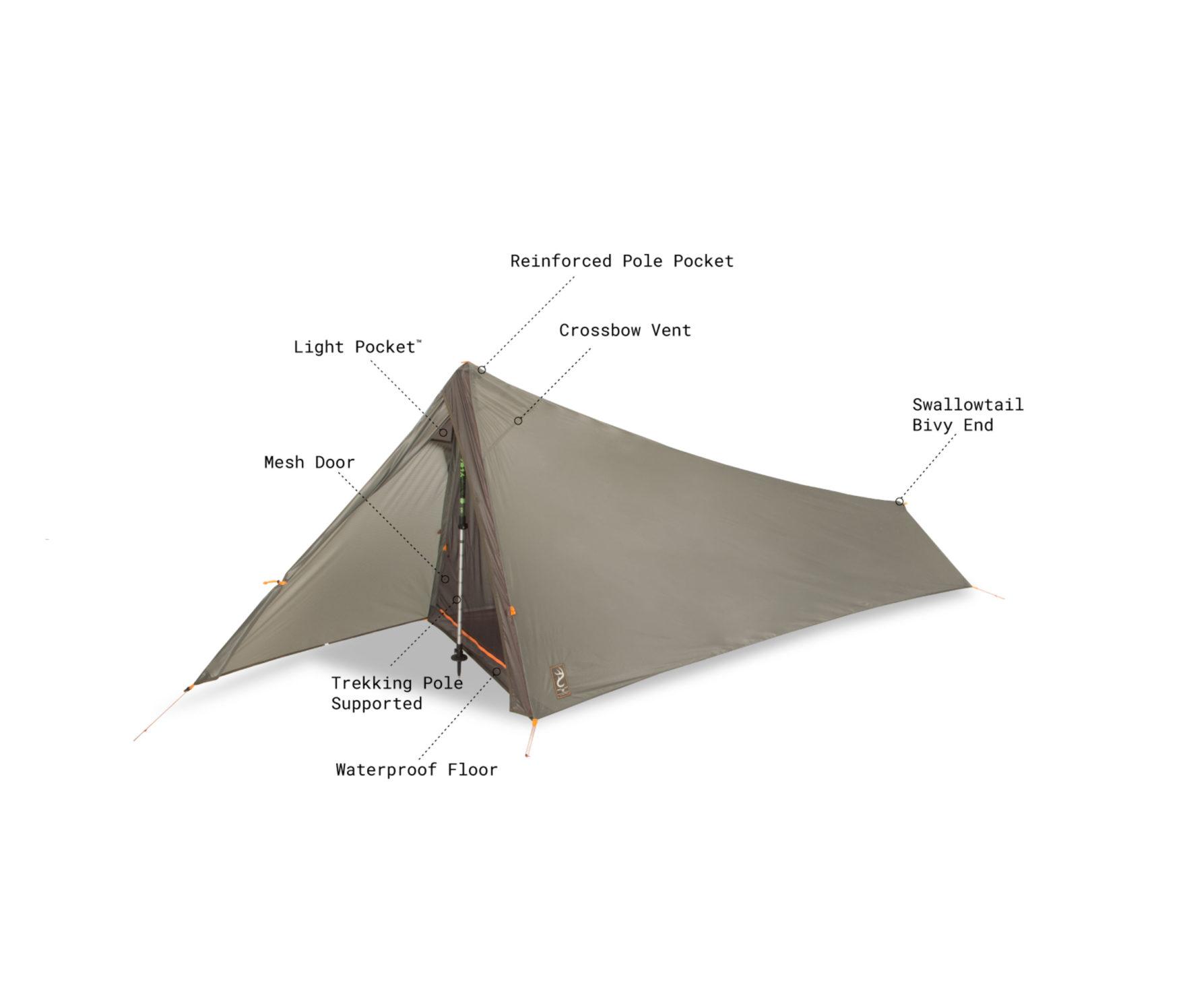 日本での発売が待ち遠しいNEMO(ニーモ) SPIKESTORM 1P テント 1