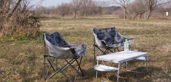 テント内でも外でも使える便利な小型テーブル<Onwayミニウイングテーブル>