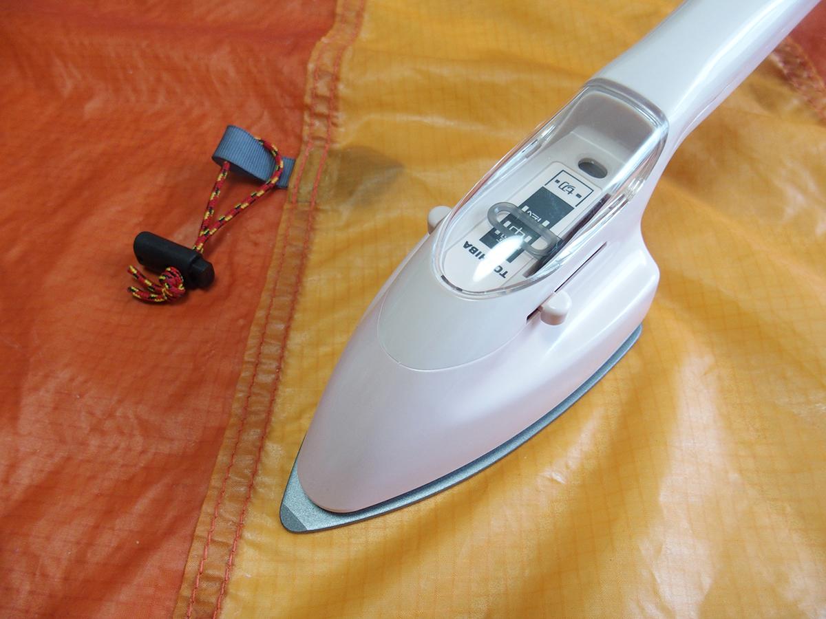 テント、タープのシームテープの貼りかえや補修に便利なアイロン<裁縫こて>1