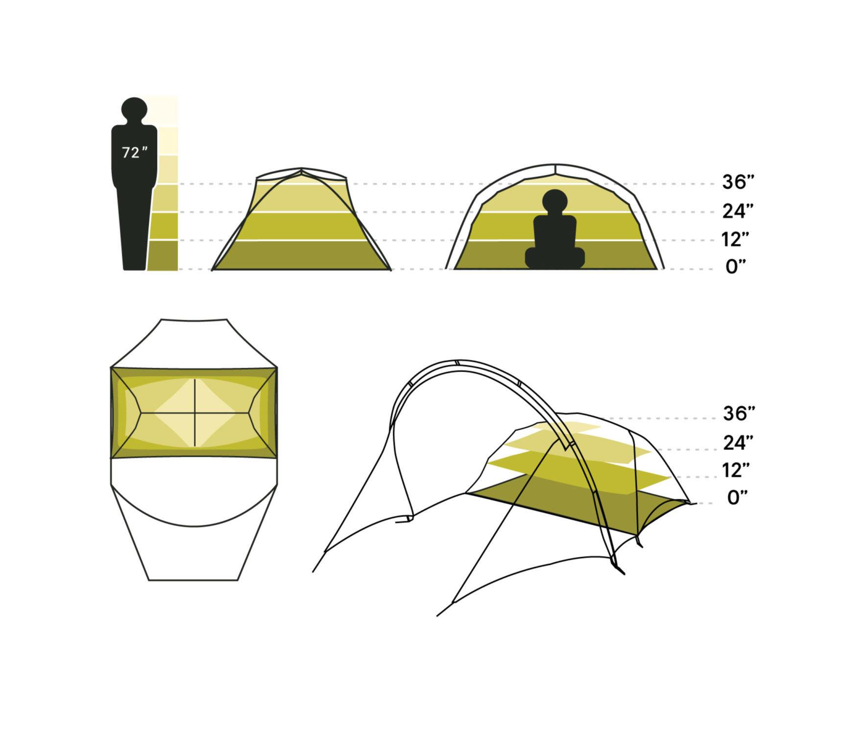 NEMO(ニーモ)から巨大な前室を持つミニマムなテントが発売されました「DAGGER PORCH TENT」10
