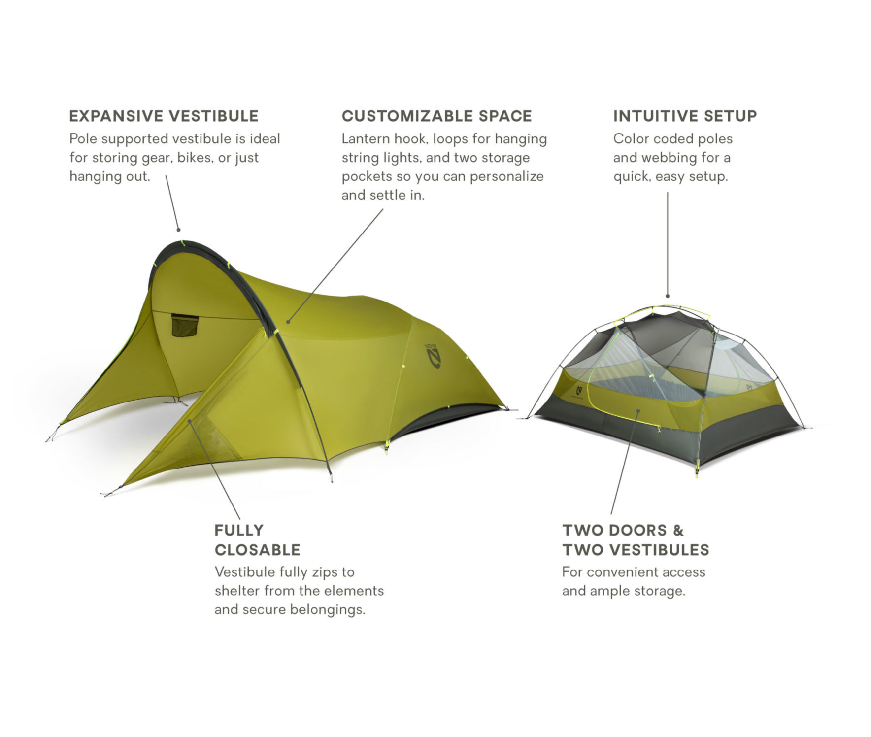NEMO(ニーモ)から巨大な前室を持つミニマムなテントが発売されました「DAGGER PORCH TENT」8