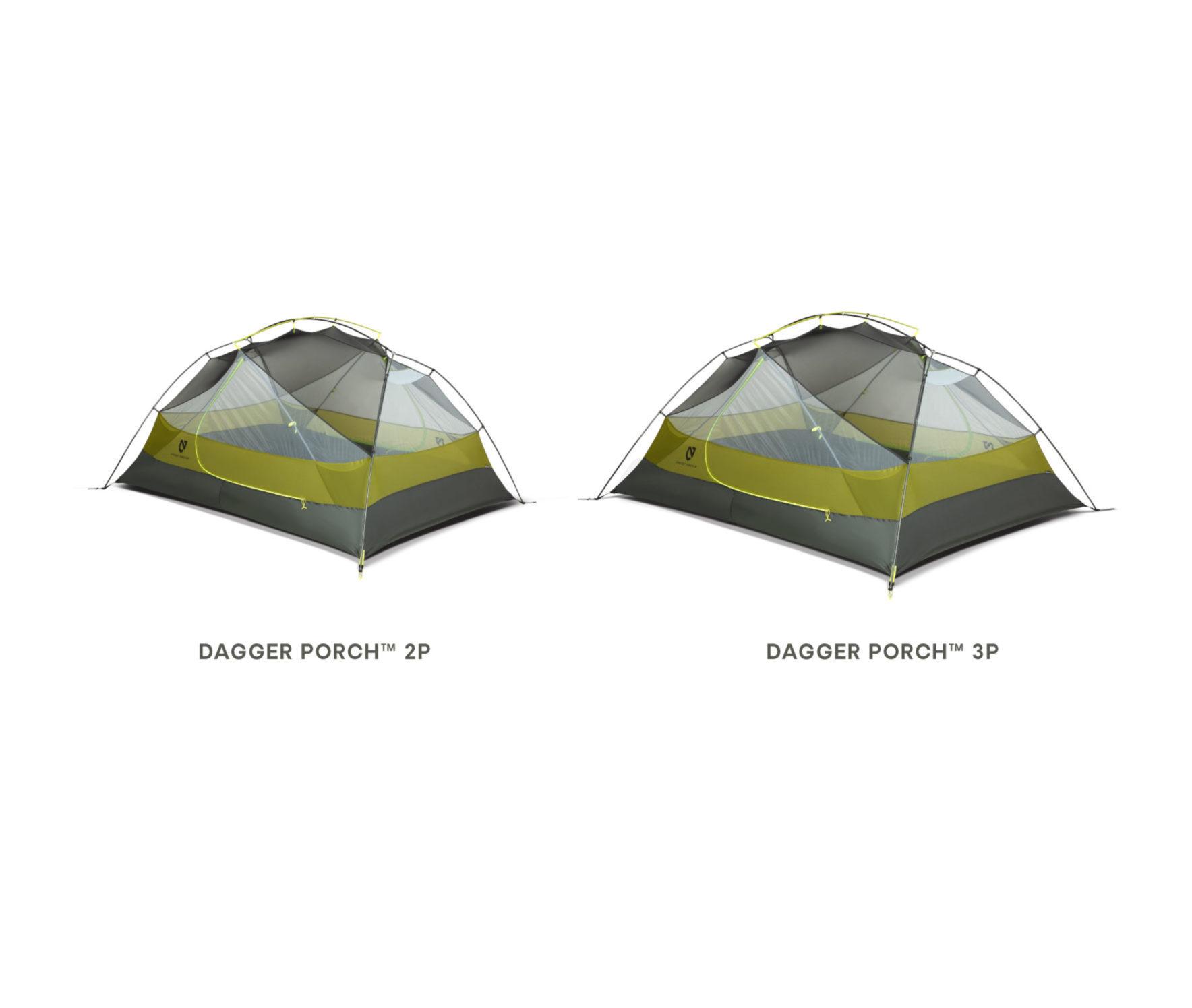 NEMO(ニーモ)から巨大な前室を持つミニマムなテントが発売されました「DAGGER PORCH TENT」9