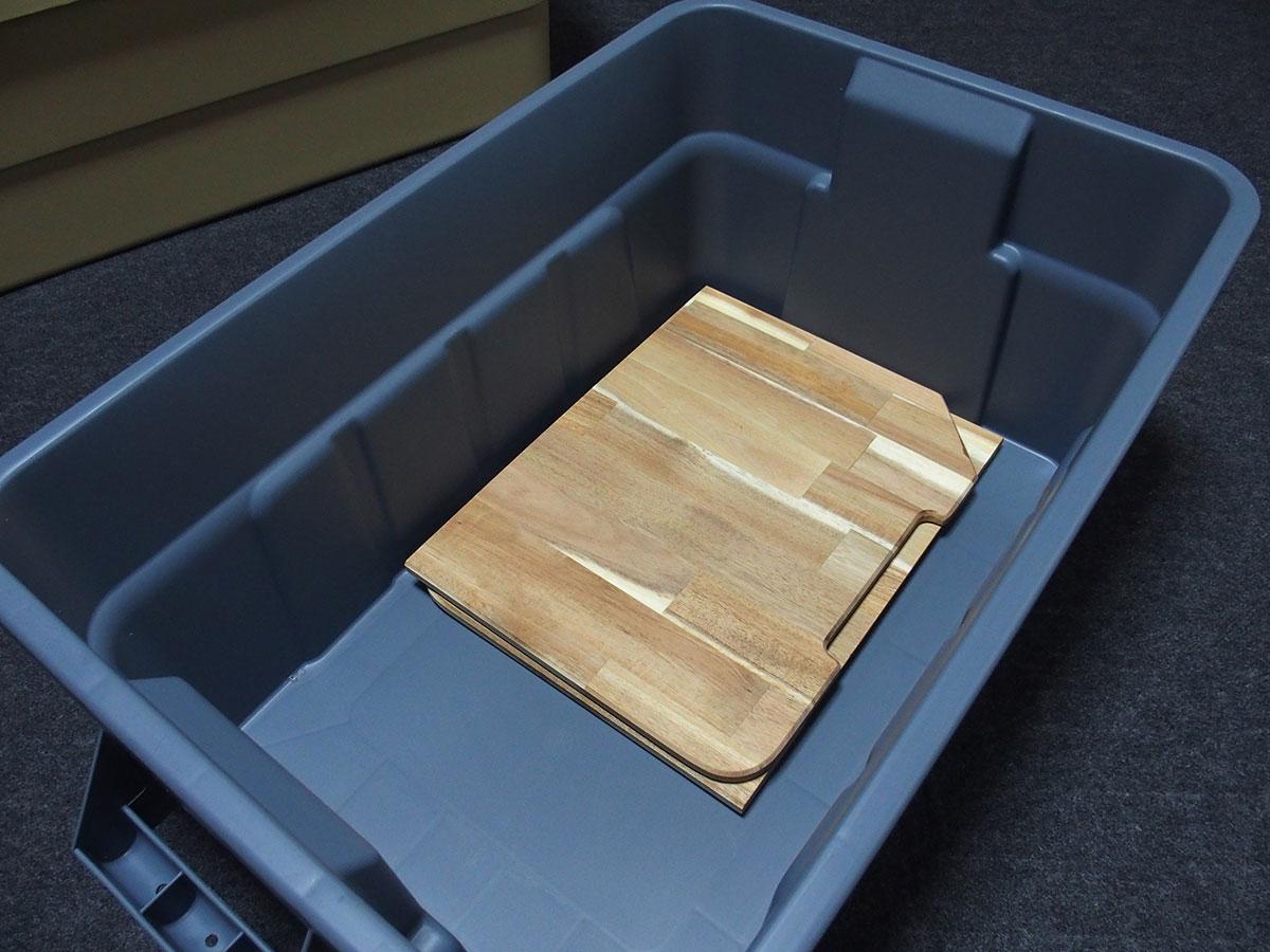 荷物運び用コンテナボックスをおしゃれなテーブルに変えてくれる<「THOR」テーブルトップ>10