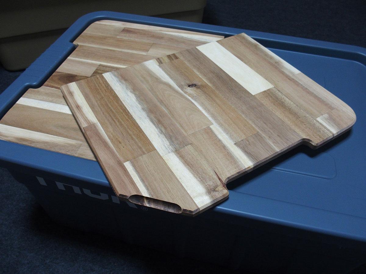 荷物運び用コンテナボックスをおしゃれなテーブルに変えてくれる<「THOR」テーブルトップ>8