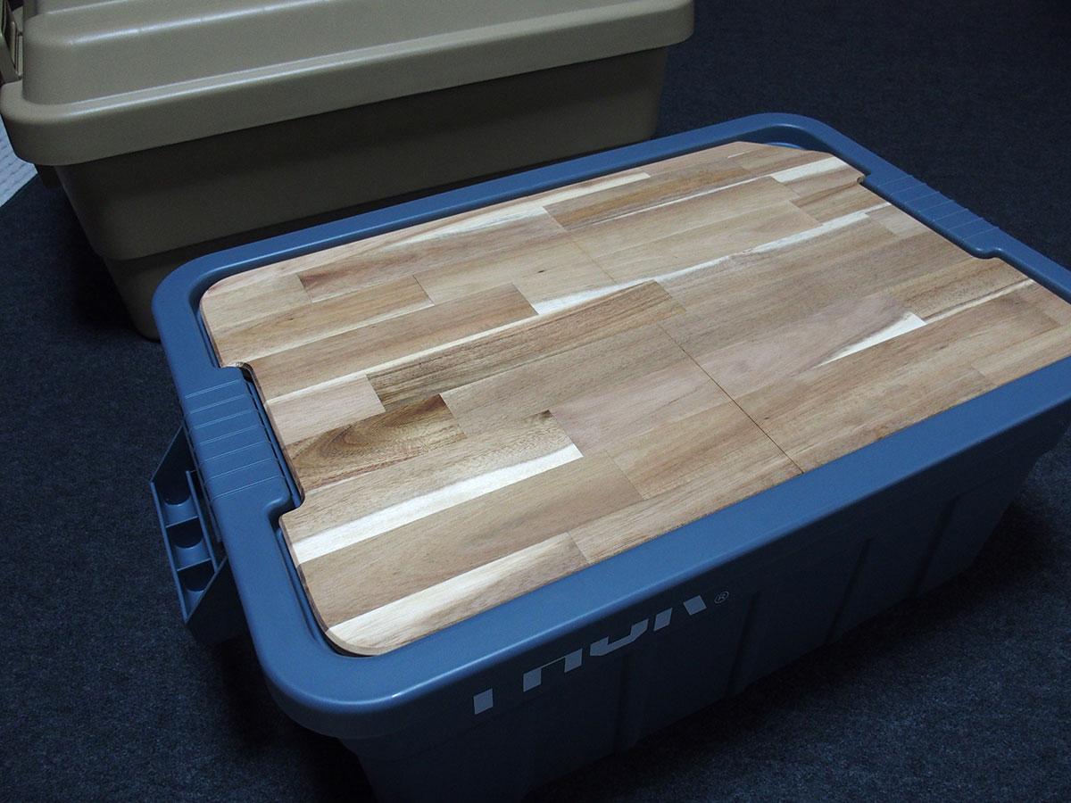 荷物運び用コンテナボックスをおしゃれなテーブルに変えてくれる<「THOR」テーブルトップ>9