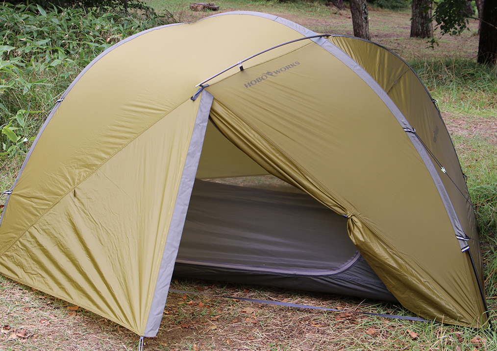 <tent-Mark DESIGNS >から設営3分、撤収1分のテント「ホーボーズネスト 2」3