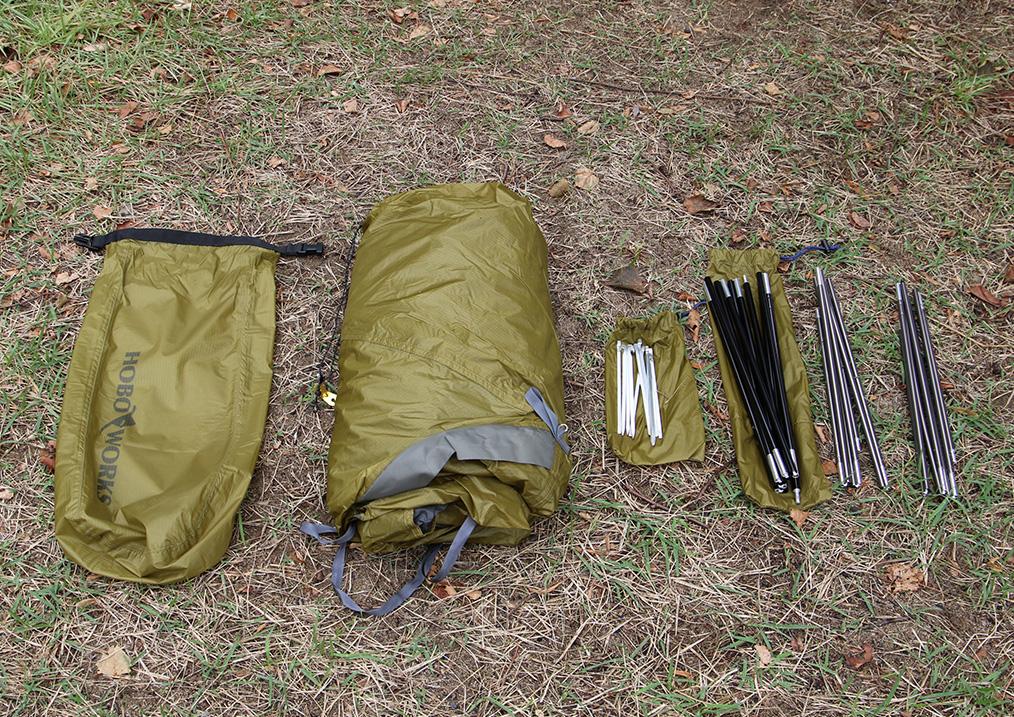 <tent-Mark DESIGNS >から設営3分、撤収1分のテント「ホーボーズネスト 2」12