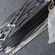 テントのリサイクル<ポール補修用パイプ(リペアパイプ)の作成>8