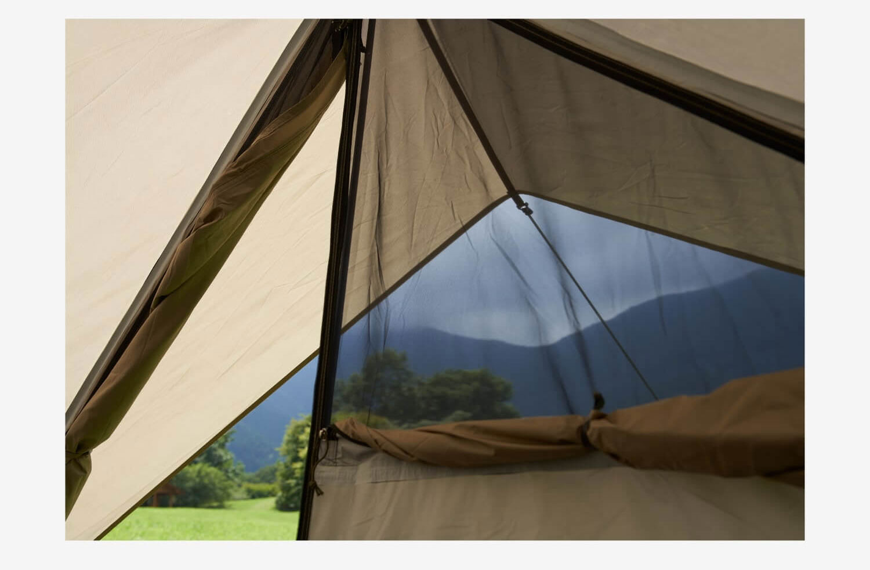 ソロキャンプ、ツーリングキャンプに最適!<鎌倉天幕 SOLOIST>テントの細部をチェック11