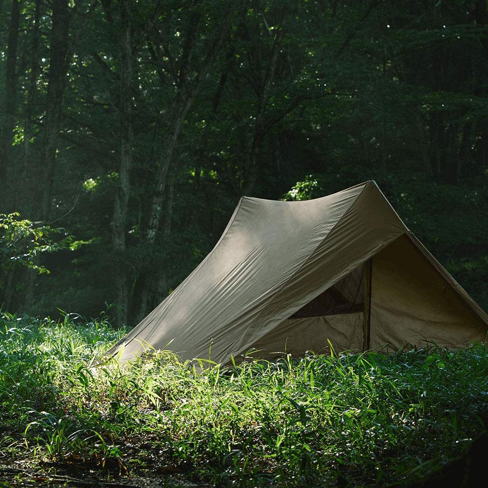 ソロキャンプ、ツーリングキャンプに最適!<鎌倉天幕 SOLOIST>テントの細部をチェック2