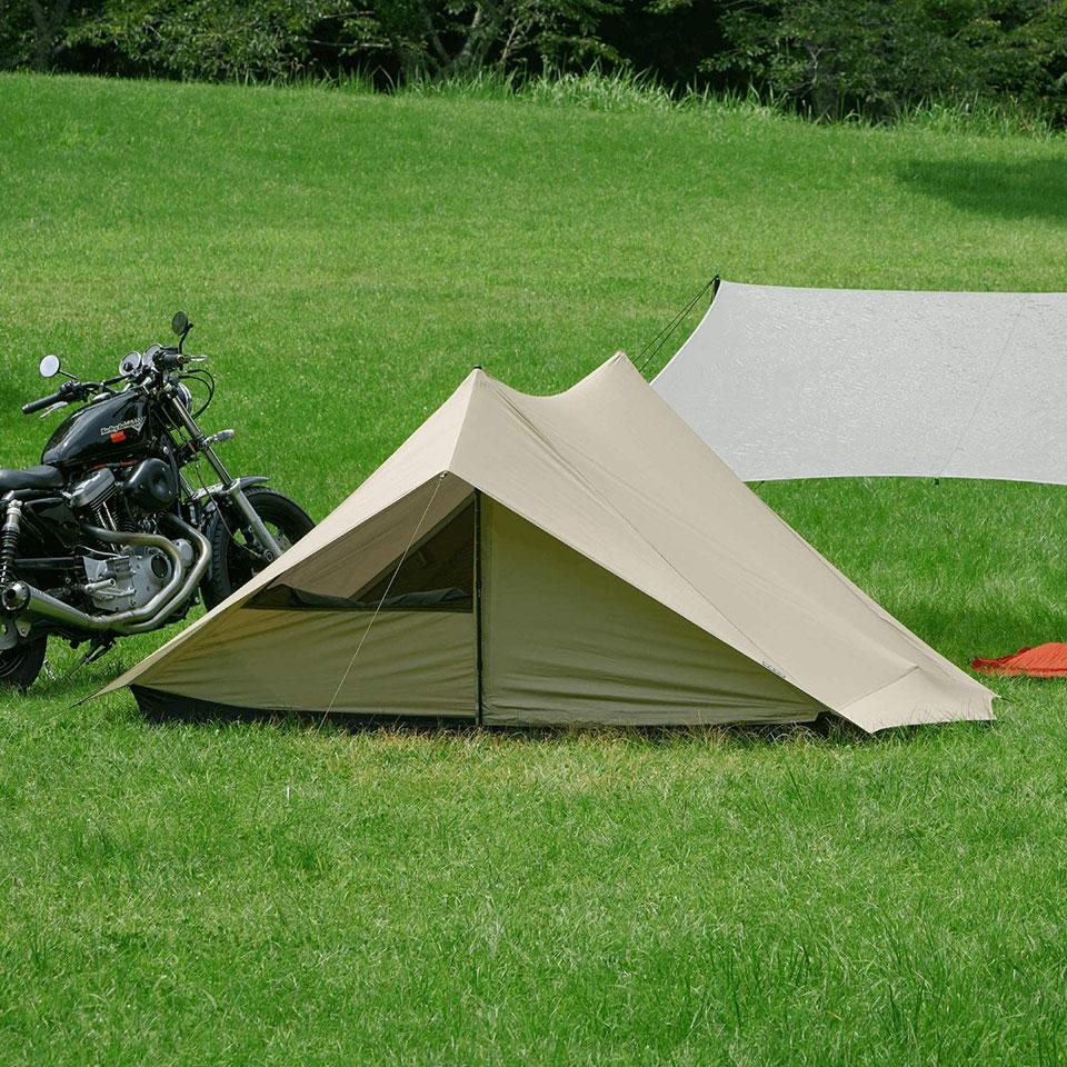 ソロキャンプ、ツーリングキャンプに最適!<鎌倉天幕 SOLOIST>テントの細部をチェック3