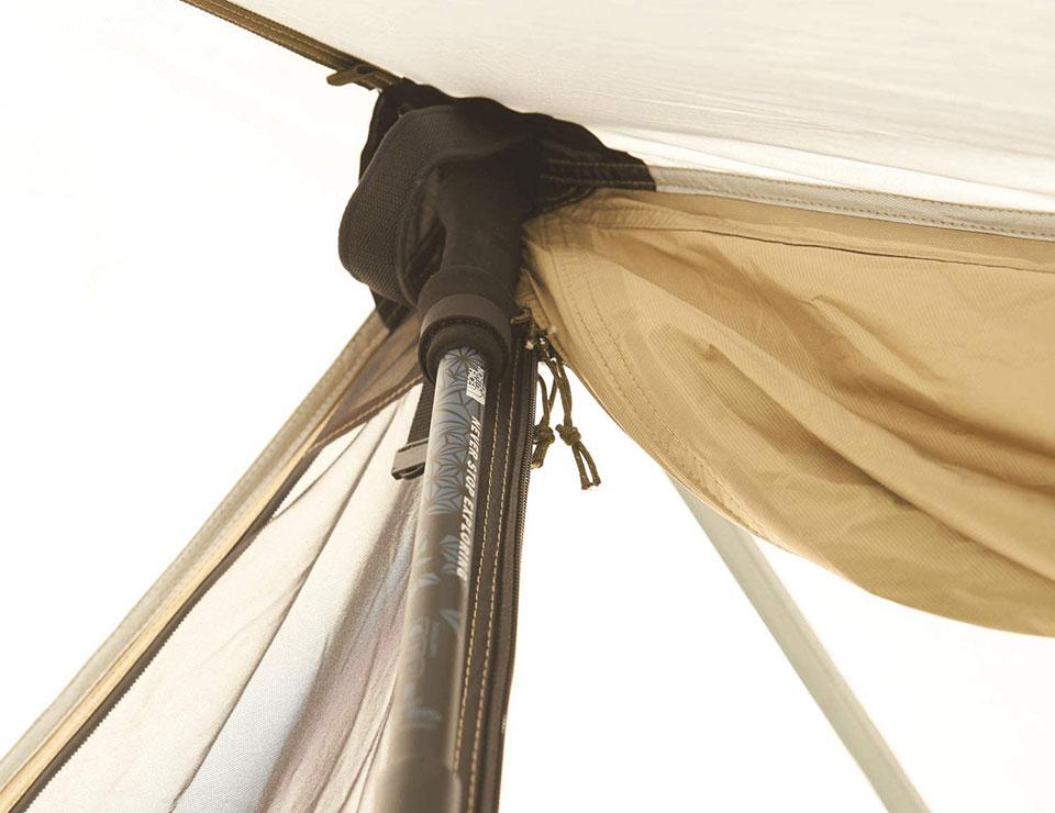 ソロキャンプ、ツーリングキャンプに最適!<鎌倉天幕 SOLOIST>テントの細部をチェック4