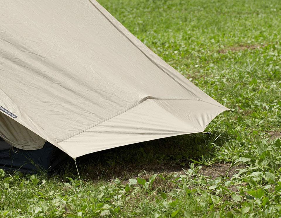 ソロキャンプ、ツーリングキャンプに最適!<鎌倉天幕 SOLOIST>テントの細部をチェック5
