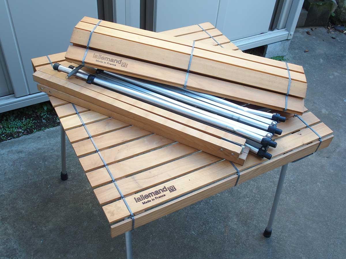 lallemand(ラレマンド)のウッドロールテーブルを修理&脚切り
